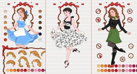 New App: Pin-up Princess Dress up by AzaleasDolls