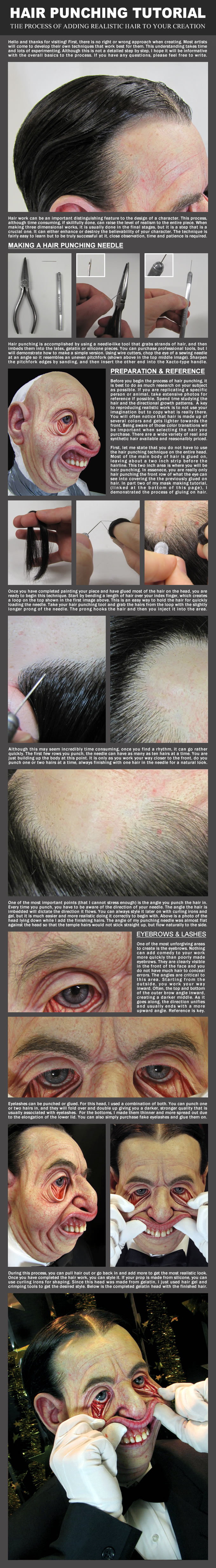 Hair Punching tutorial