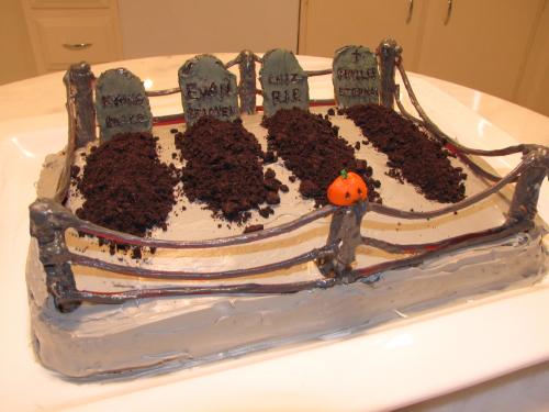 Graveyard cake by EvanCampbell