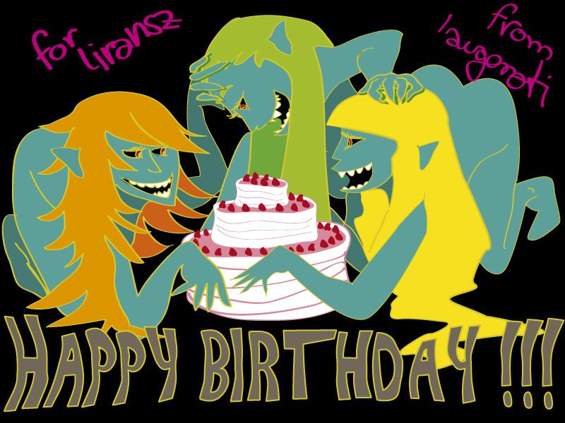 Happy Birthday Liransz by laugonati