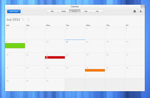 Mockup: GNOME Calendar by 0rAX0