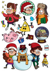 Stickers for SALE: New Year in Gravity Falls