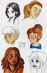 3Jan2015: random girls + Beatrice
