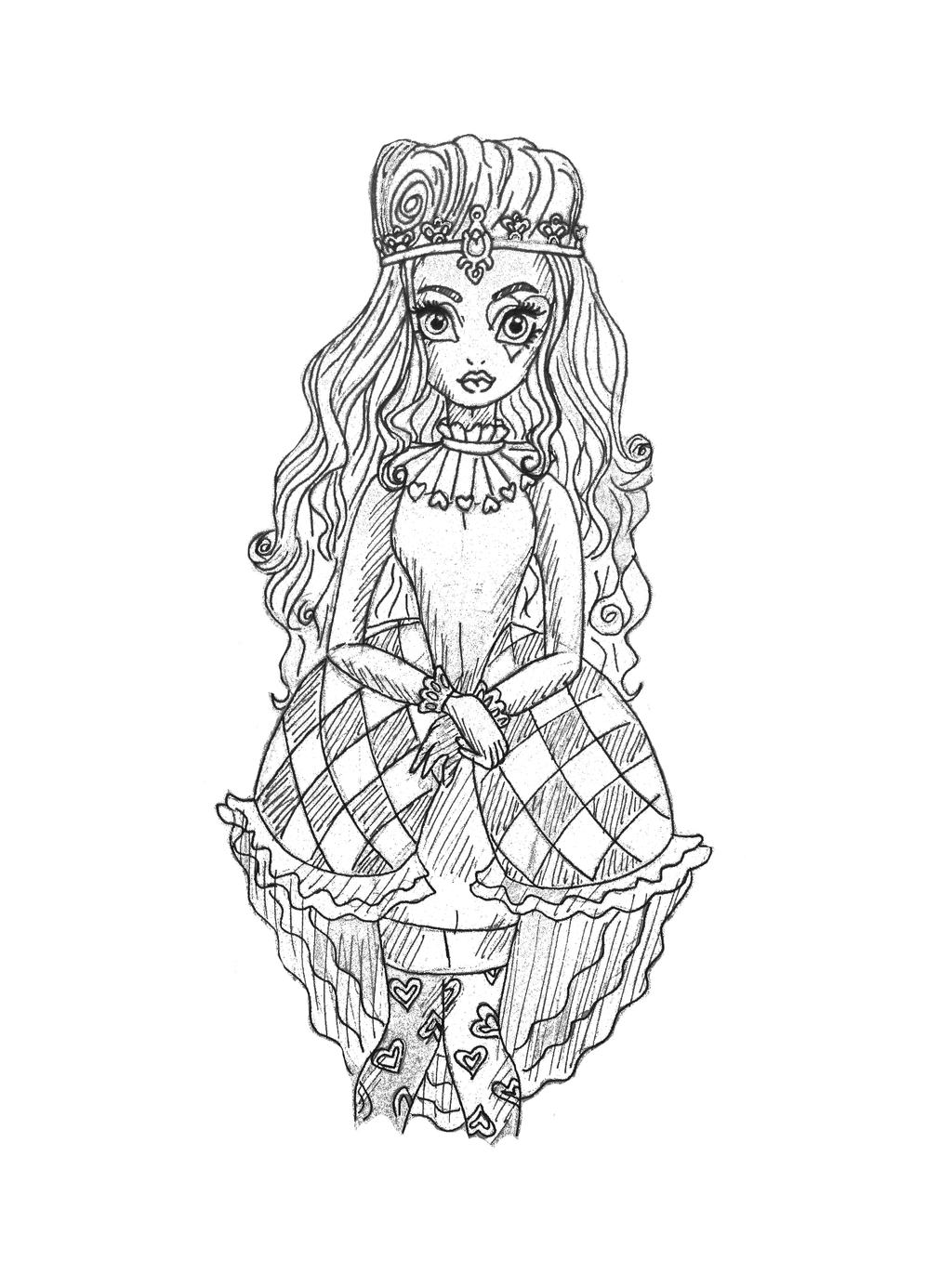 Lizzie hearts coloring page -  Young Lizzie Hearts Sketch By Petitrevanche