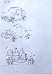 Day 24: 3 Attempts at Drawing a Car