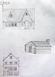 Day 27: 3 Attempts at Drawing Houses