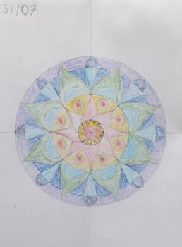 Day 31: 1 Beautiful Little Mandala Drawing