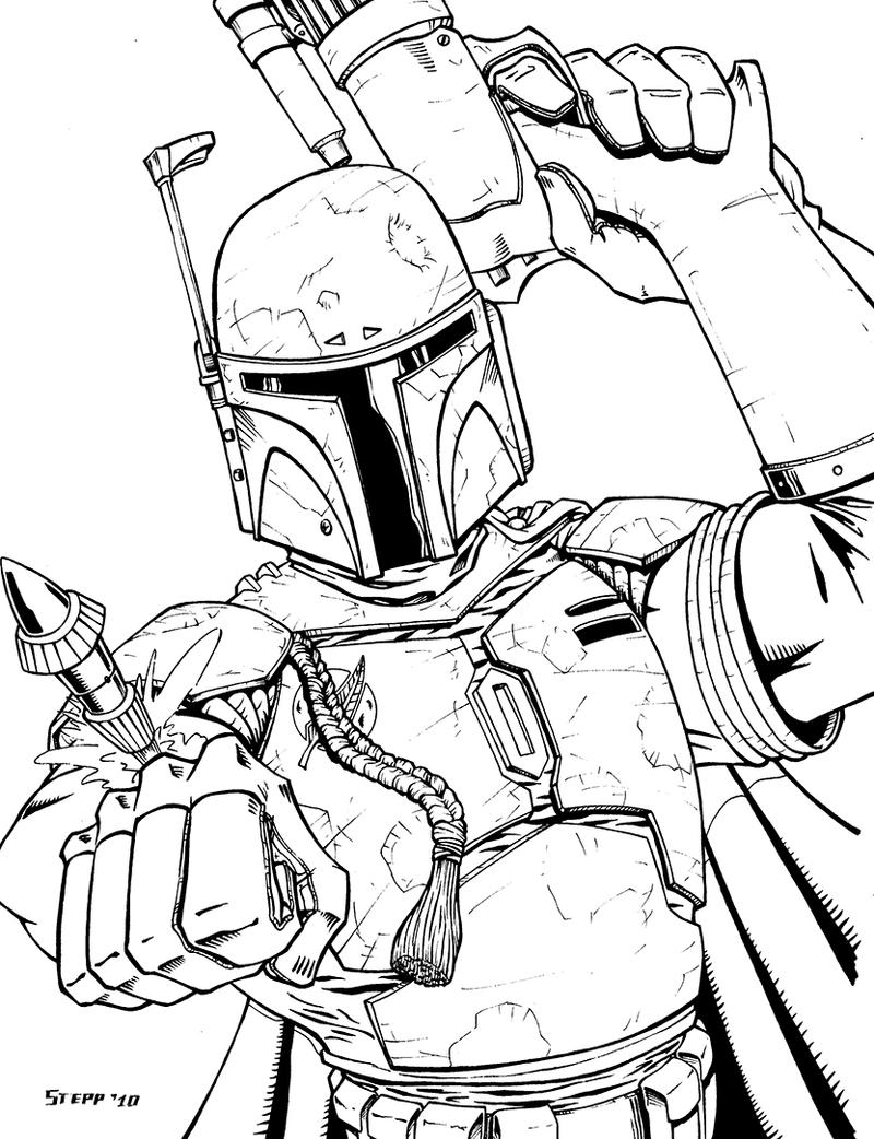 Boba fett by theelysian on deviantart for Lego jango fett coloring pages