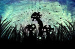 Toadstool Silhouette