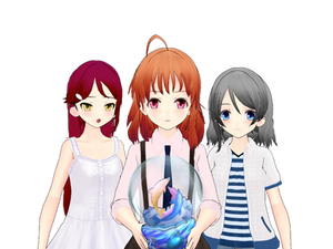 Mmd aqours Chika,You,Riko Dl