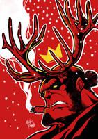 Deer Hellboy by MattKetmo