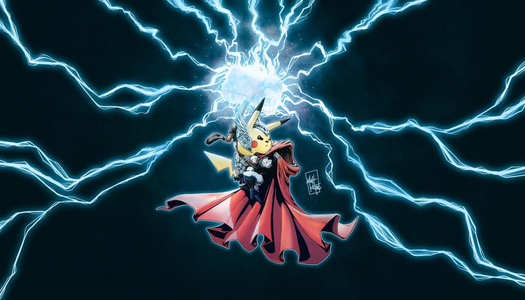 Pikachu Thor FREE Wallpaper by MattKetmo