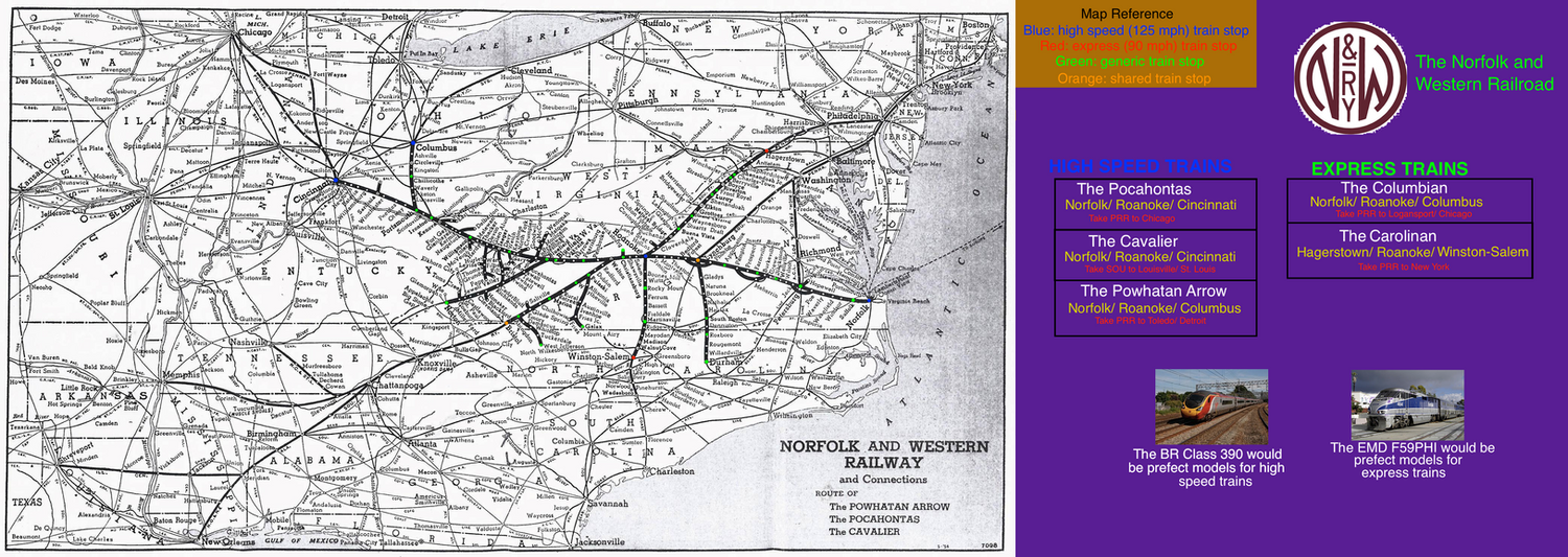 Fictionalized Norfolk and Western post 1990 by mrbill6ishere