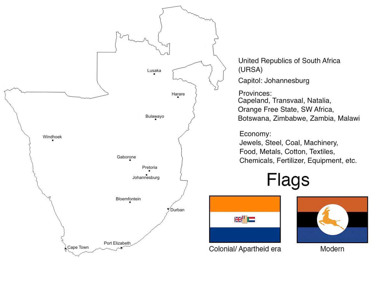 United Republics of South Africa by mrbill6ishere