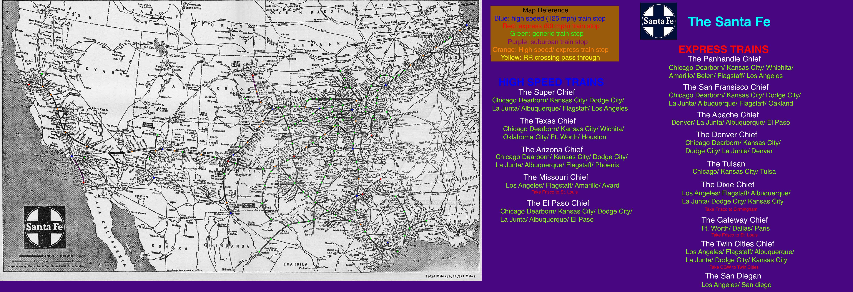 Fictionalized ATSF map by mrbill6ishere