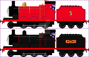 Jane The Red Engine by mrbill6ishere