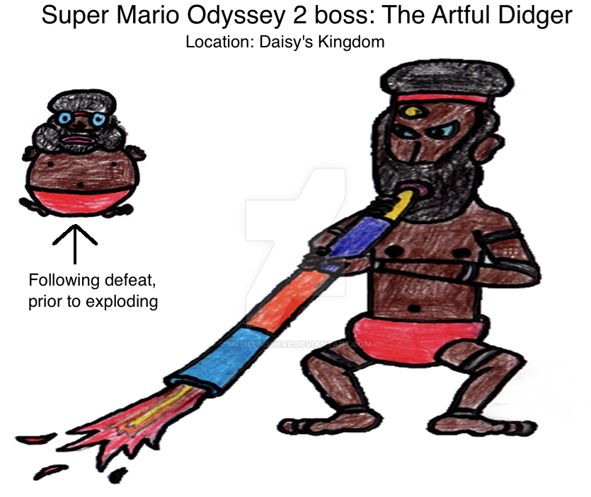 Super Mario Odyssey 2 Boss: The Artful Didger by mrbill6ishere