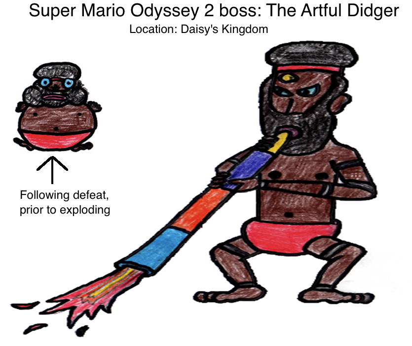 Super Mario Odyssey 2 Boss The Artful Didger By Mrbill6ishere On