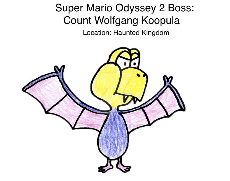 Super Mario Odyssey 2 Boss: Count Wolfgang Koopula by mrbill6ishere