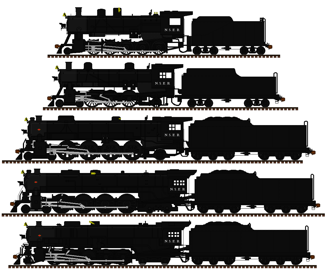 Nashville and South Eastern steam locomotives by mrbill6ishere