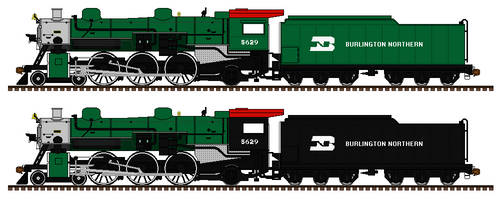 GTW 5629: Burlington Northern scheme