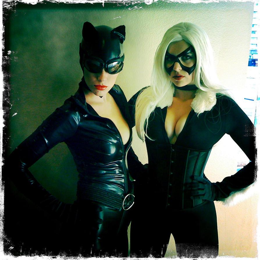 Catwoman and black cat by theoriginalaktrez on deviantart