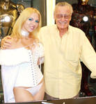 Emma Frost and Stan Lee