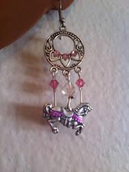 Carousel Horse Earrings by TheOriginalAKTREZ