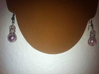 Pink Pearl earrings by TheOriginalAKTREZ