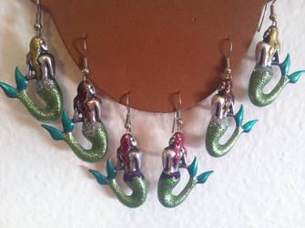 Mermaid Earrings by TheOriginalAKTREZ
