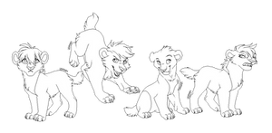 Saber-tooth cubs lineart