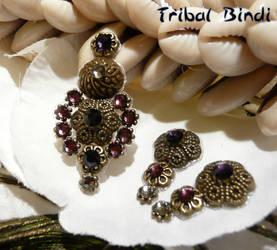 violet bindi by TribalBindi