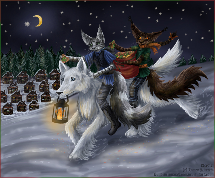 We wish you happy holidays by LunozvezdnaiaCoon