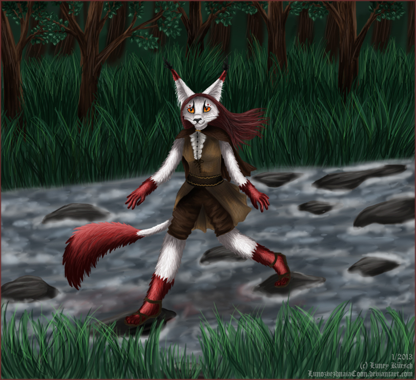Running with the river by LunozvezdnaiaCoon