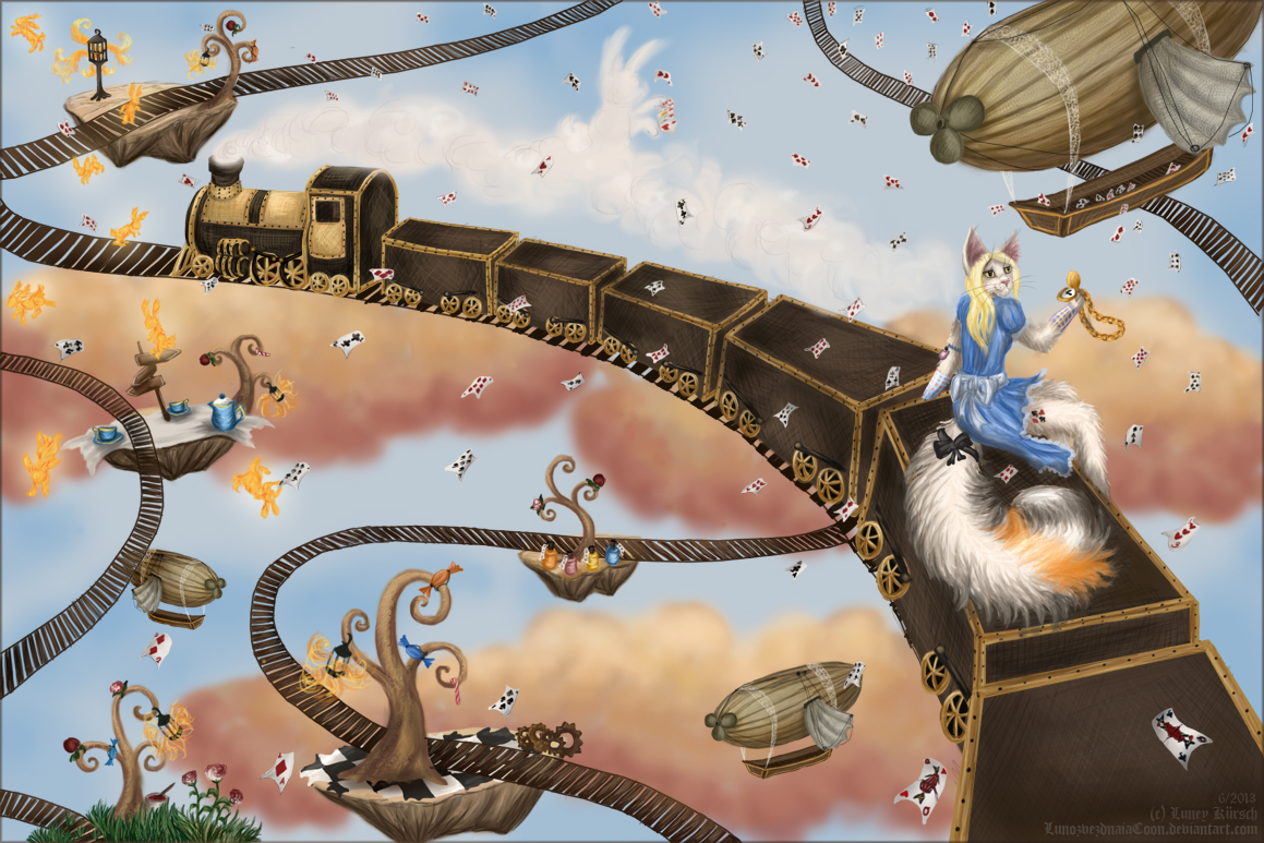 Trains of Wonderland by LunozvezdnaiaCoon