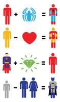 Superhero Mathematics by mattcantdraw