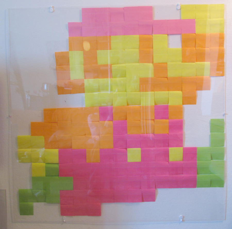 Post-it Note Super Mario by mattcantdraw