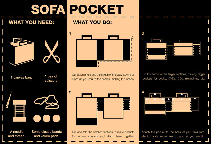 Sofa Pocket Instructions by mattcantdraw