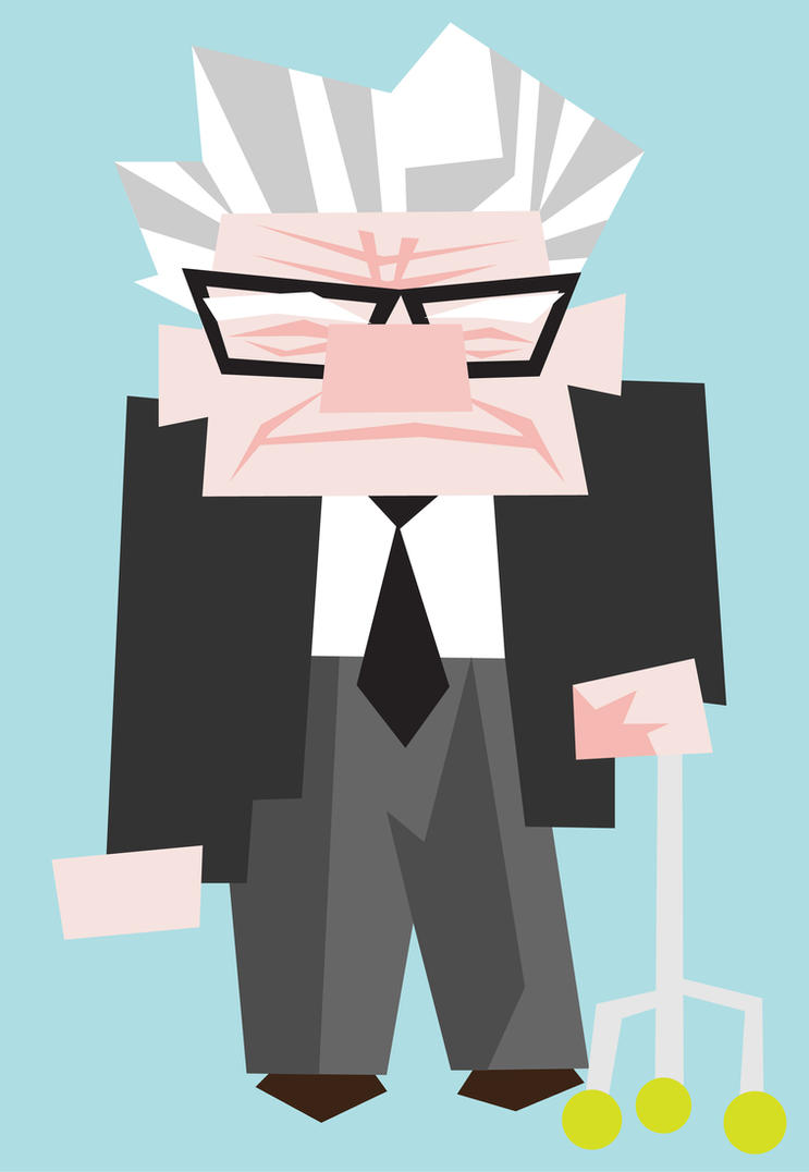 Carl Frederickson from Up by mattcantdraw