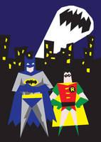 Batman and Robin by mattcantdraw