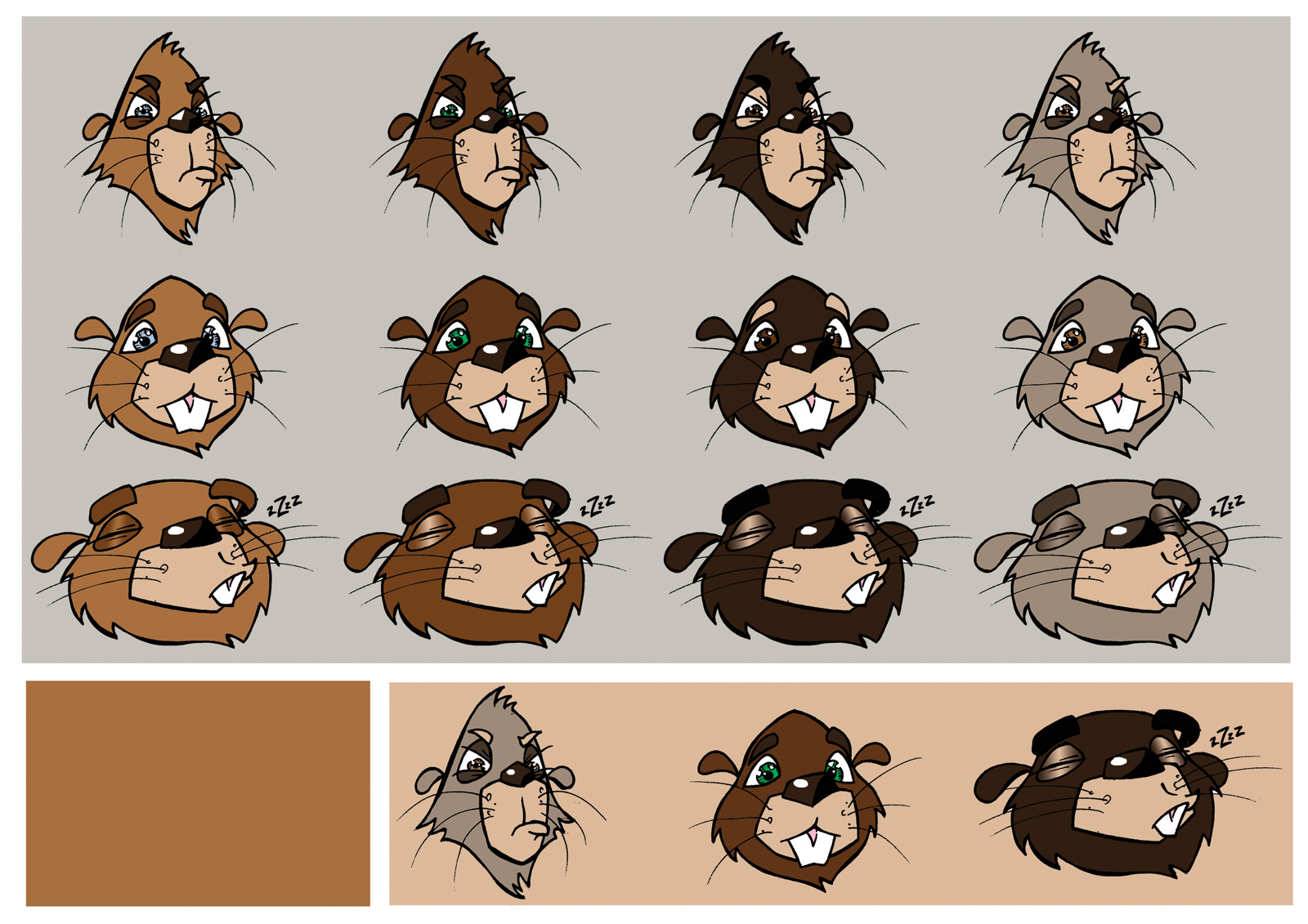 Beavers Colour Test by mattcantdraw