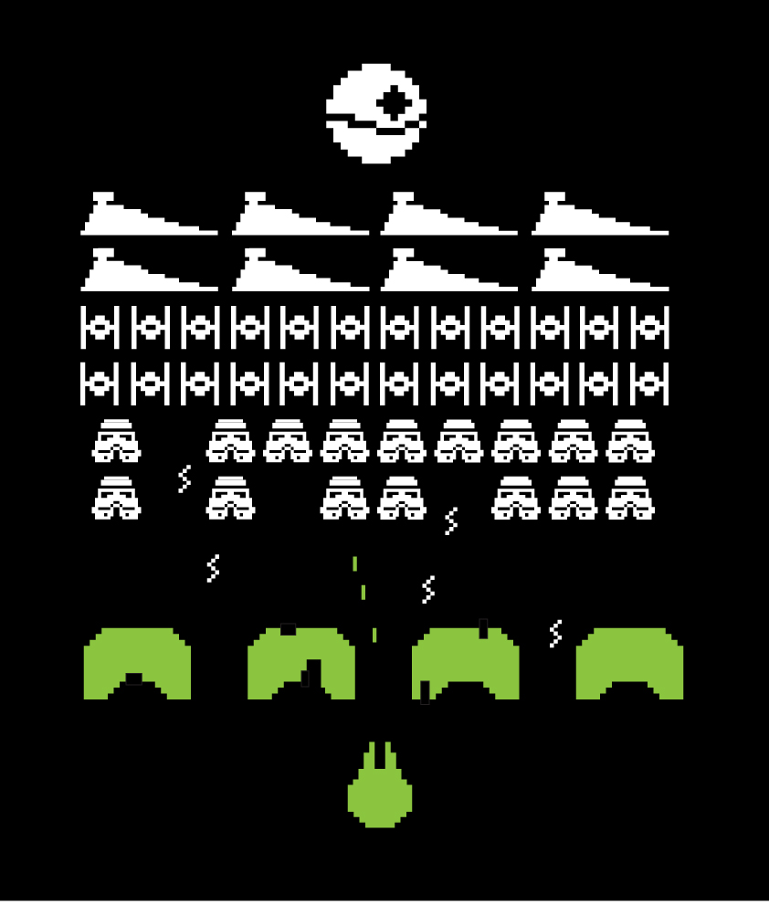 Star Wars Space Invaders by mattcantdraw