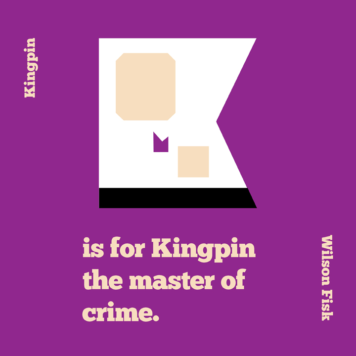 K is for Kingpin by mattcantdraw
