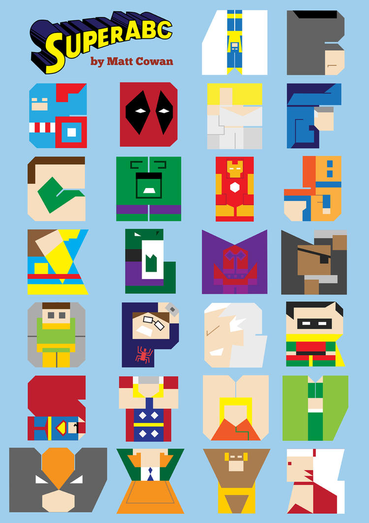 Super ABC Poster by mattcantdraw