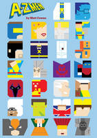 A-Z Men Poster by mattcantdraw