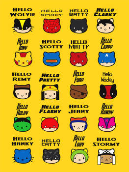 Hello Superhero Kitties