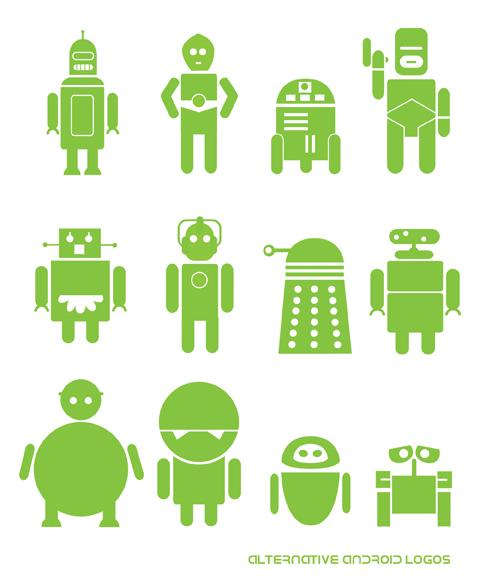 Alternative Android Logos