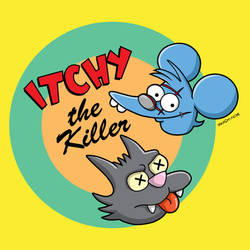 Itchy the Killer by mattcantdraw