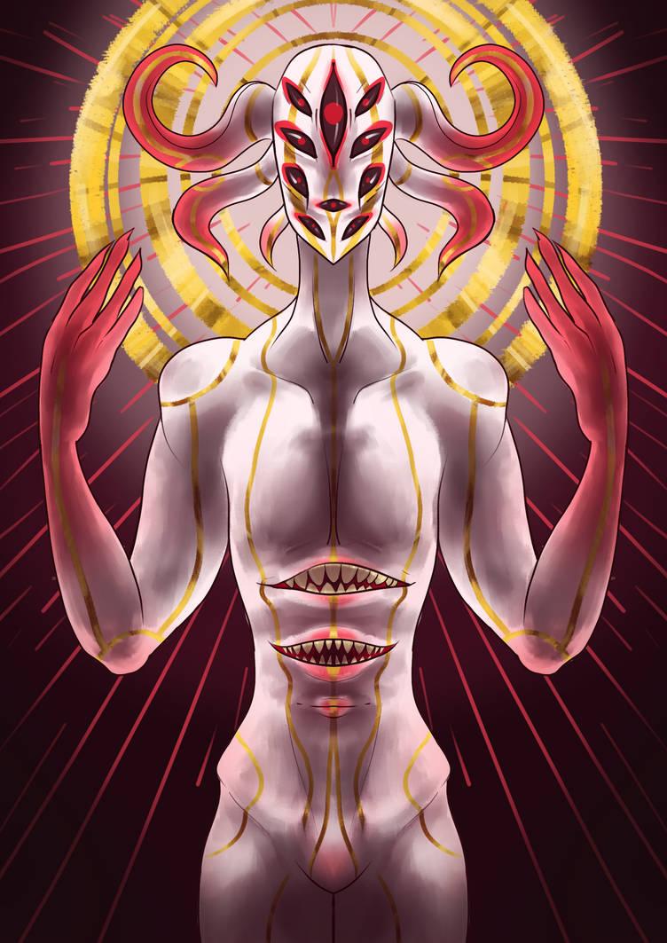 Image of a light intimidating God.