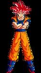 Goku (Super Saiyan God)